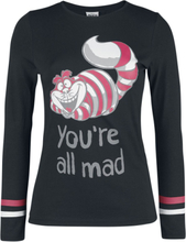 Alice in Wonderland - You Are All Mad -Langermet skjorte - svart