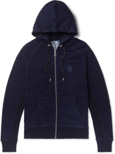 Churchstow Loopback Cotton-blend Jersey Zip-up Hoodie - Navy