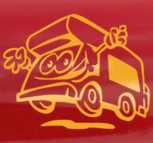 Fröhlicher Wohnwagen Sticker