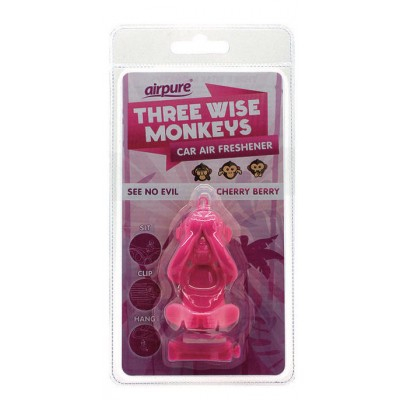 Airpure See No Evil Car Air Freshener Cherry Berry 1 kpl