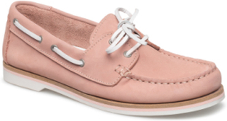 Woms Lace-Up Loafers Flade Sko Lyserød Tamaris