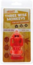 Airpure Hear No Evil Car Air Freshener New Car 1 stk