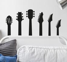 Muziek sticker gitaren