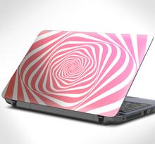 Laptopsticker roze spiraal