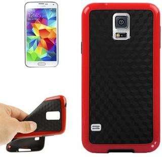 Plastik/Silikone TPU Case Cover til S5 (Rød)
