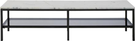 TV-bänk Accent - Marmor (ljus & svart)