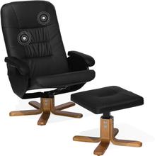 Lämmittävä Hierova musta nojatuoli RelaxPRO