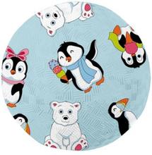 Boll naturgummi pingvin - liten