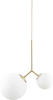 HOUSE DOCTOR Twis loftslampe - hvidt glas og guld metal