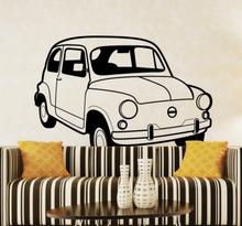 Antiker Fiat 500 Wandtattoo