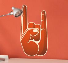 Sticker hand rock