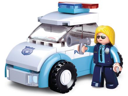 Sluban Rakennuspalikat Tyttöjen Unelma -sarja Police Woman with Police Car