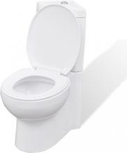 Hjørne toalett, keramisk, hvit