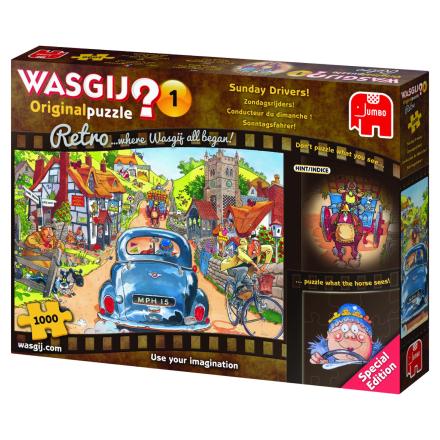 WASGIJ Retro Original 1,Sunday Drivers 1000 palaa