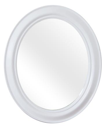 Peili 50x60cm ovaali moderni valkoinen D1034