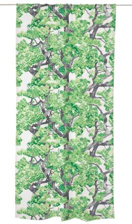 Lehvästö-verho, green