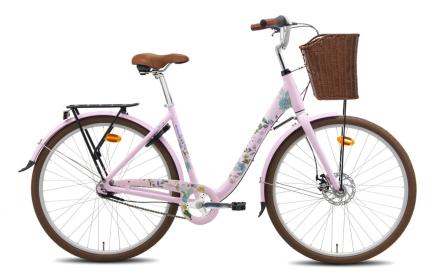 Saimi 7-vaihteinen vaaleanpunainen naisten polkupyörä