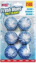 Mighty Burst Fresh Blues Toilet Blocks 6 stk