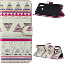 Huawei P Smart 2019 pattern leather case - Tribal Triangles