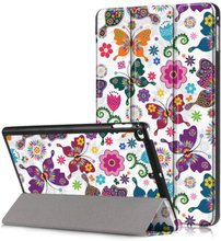 iPad Mini (2019) tri-fold pattern leather case - Pretty Butterflies