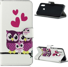Huawei P Smart 2019 pattern leather case - Owls Family
