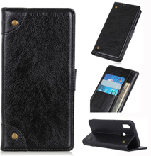 Huawei Y6 2019 nappa leather case - Black