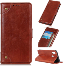 Huawei Y6 2019 nappa leather case - Brown