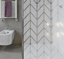Badkamer douchewand sticker geometrisch