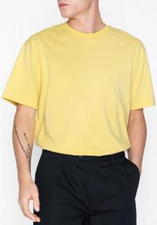 Topman Pastel Yellow Oversized T-Shirt T-shirts & undertrøjer Yellow