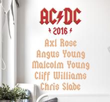 Sticker muziek ACDC line-up 2016