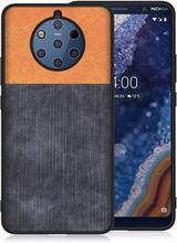 Nokia 9 PUreview Denimtekstur Etui - Oransje / Mørk Blå