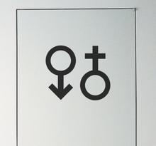 Wandtattoo Symbol männlich weiblich