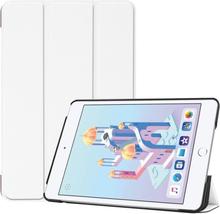 iPad Mini (2019) tri-fold leather case - White