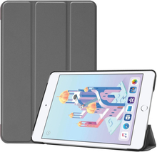 iPad Mini (2019) tri-fold leather case - Grey
