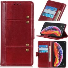 Crazy Horse Huawei Y6 2019 leather case - Red