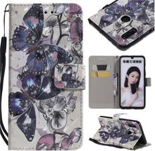 Huawei P Smart 2019 patterned leather case - Butterfly Pattern