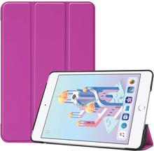 iPad Mini (2019) tri-fold leather case - Purple