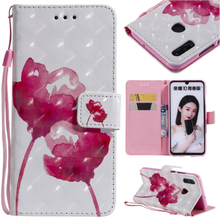 Huawei P Smart 2019 patterned leather case - Vivid Flowers