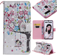 Huawei P Smart 2019 patterned leather case - Flowered Tree
