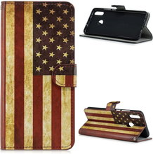 Huawei P Smart 2019 pattern leather case - Vintage US Flag