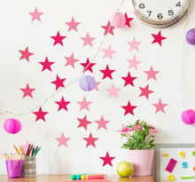 Stickers roze tinten sterren