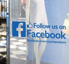 Follow us on Facebook Aufkleber