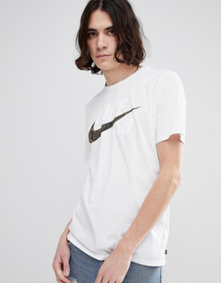 Nike SB T-Shirt With Camo Logo In White 892823-100 - White