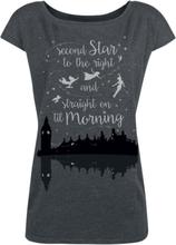 Peter Pan - Neverland - Second Star -T-skjorte - gråmelert