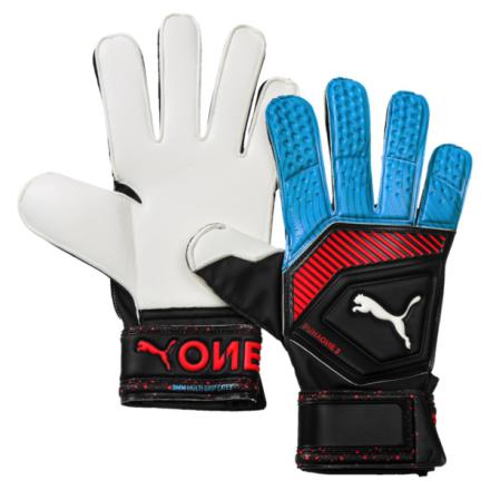 PUMA One Grip 3 RC Fußball Torwarthandschuhe | Mit Aucun | Rot/Blau/Schwarz | Größe: 8