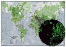 Självlysande Världskarta
