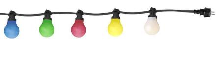 Party bältslinga med 10xB22 LED lampor multi 1170cm