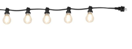 Party bältslinga med 10xB22 LED lampor klar 1170cm