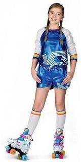 Rollerskate outfit K3 flickor blå storlek 134
