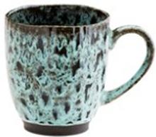 Madam Stoltz Mugg Ø 9,8 cm Grön/svart